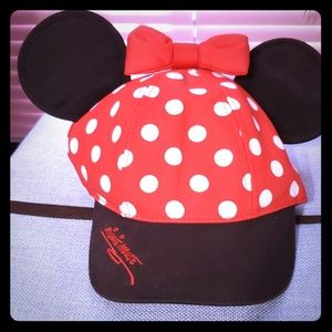 Youth sized Minnie Mouse hat with ears